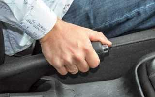 Натяжка тросика ручного тормоза