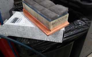 Как заменить воздушный фильтр на лада веста