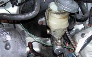 Замена главного тормозного цилиндра своими руками