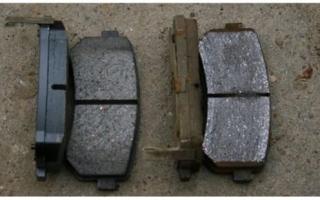 Толщина тормозной колодки автомобиля