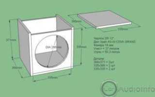 Фазоинверторный короб для сабвуфера 12 дюймов