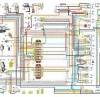 Электросхема ваз 2106 карбюратор с описанием цветная