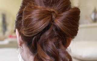 Укладка волос в домашних условиях как сделать прическу «бантик»