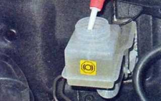 Лада калина замена тормозной жидкости