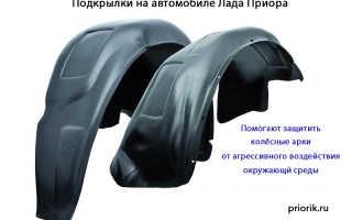 Подкрылки на приору без сверления арок