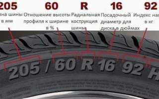 Расшифровка надписей на шине автомобильного колеса