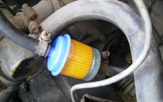 Установка фильтра тонкой очистки топлива