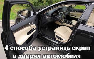 Скрип резинок дверей автомобиля