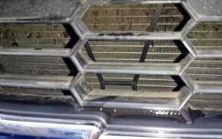 Установка сетки на радиатор