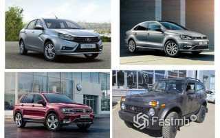 Рейтинг продажи новых авто в россии
