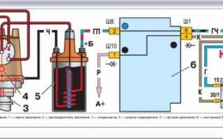 Схема системы зажигания ваз 2109 карбюратор