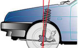 Регулировка угла схождения передних колес