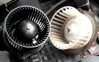 Как снять моторчик печки на соболе